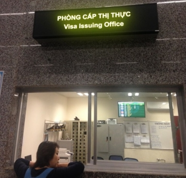 "In the Da Nang int'l airport (in Da Nang city), you will see an office called ""Visa Issuing Office"""